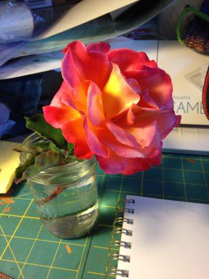 2nd rose sketch - original rose
