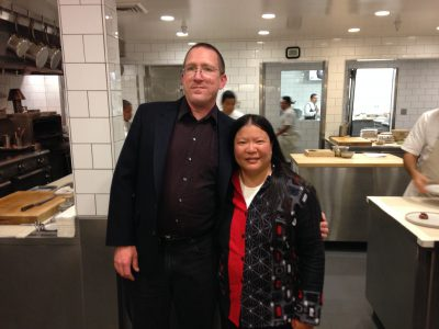 Tien and Mike in the kitchen at The Restaurant at Meadowood