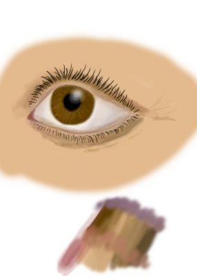 digital painting of an eye