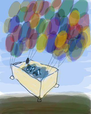 flying bathtub value sketch - general light