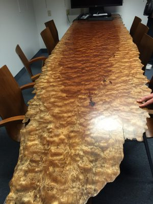 Another of the wonderful conference room tables at Schiffer Publishing
