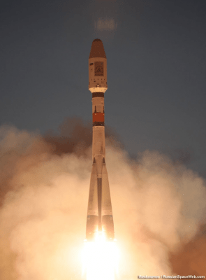 Original photo of SkySat-2 launch, as provided by Roskosmos