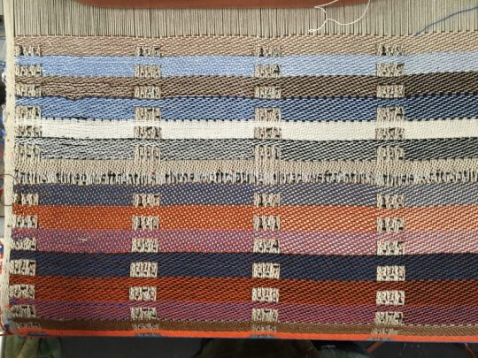 close-up of weave blanket