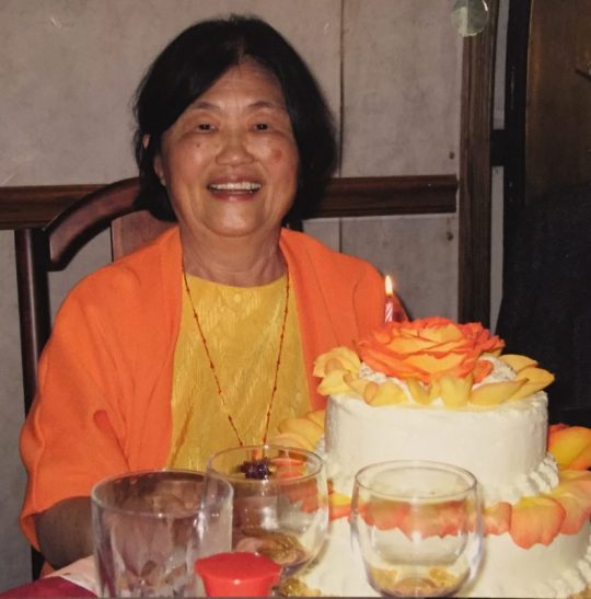 Ma at her 70th birthday party