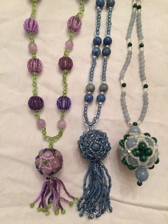 beaded necklaces my mom made