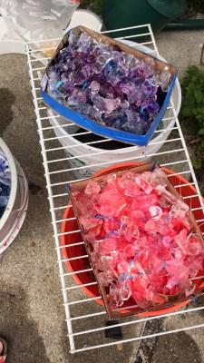 ice dyeing in progress