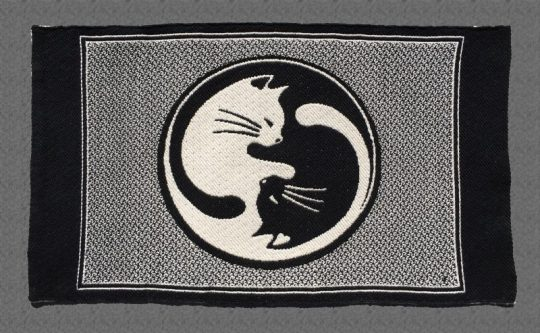 "Cat placemats - ""The Tao of Cats"" - dark side"