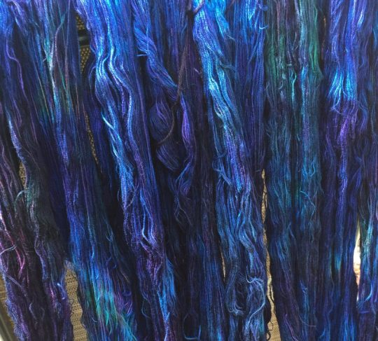 blue warp closeup