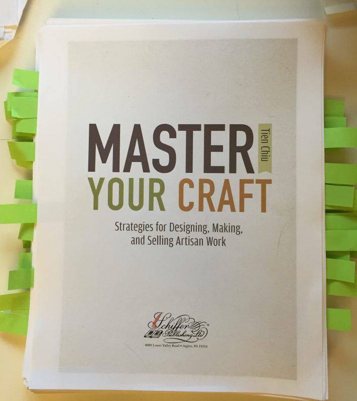 Proofs for Master Your Craft: Strategies for Designing, Making, and Selling Artisan Work