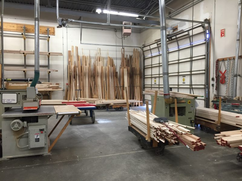 wood section at Schacht Spindle Co