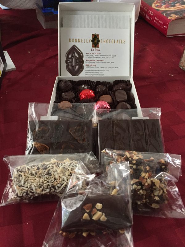 chocolates from Donnelly Chocolates
