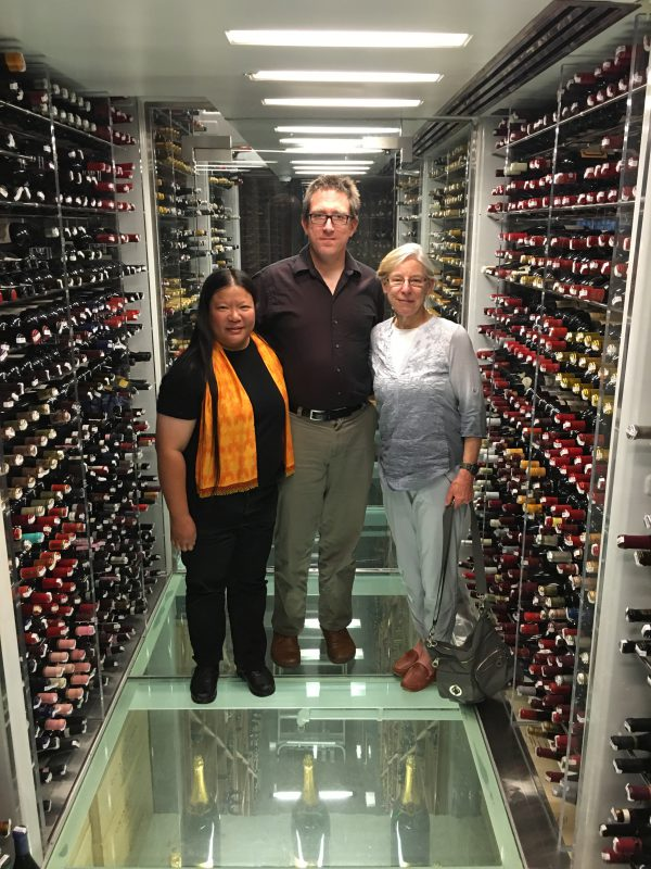 The wine cellar at The Plumed Horse