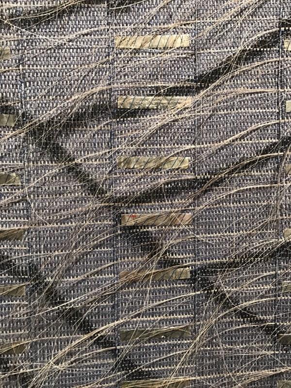 "Closeup of ""Silver Waves"", by Adela Akers, Browngrotta arts gallery"