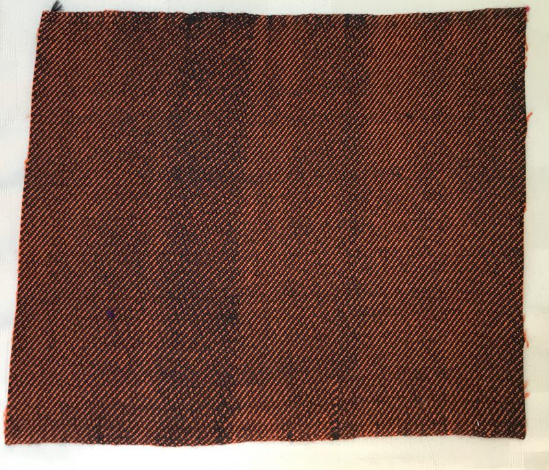twill sample woven in July