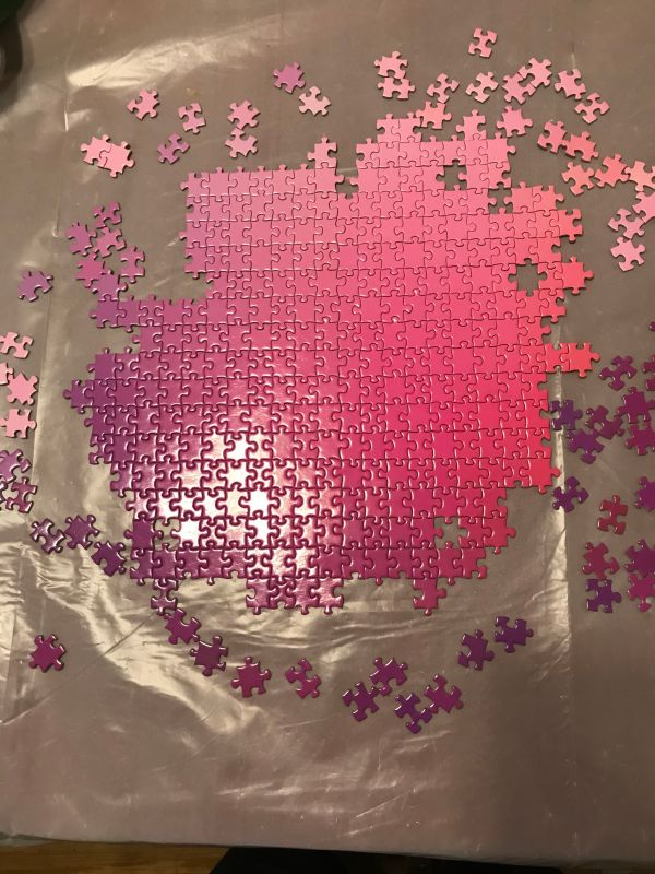 5000 Colours puzzle - 5 hours into assembly