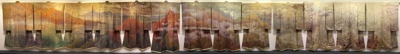 "13 kimono in Itchiku Kubota's ""Symphony of Light"""