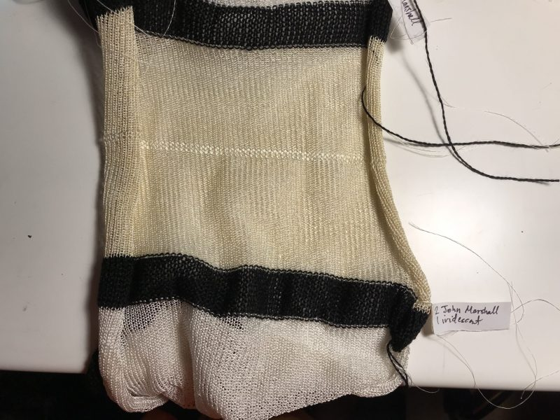 a single knitted blank for samples