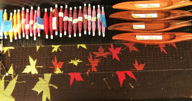 Seasons of Creativity - second sample progress photo (wound quills, samples, shuttles)