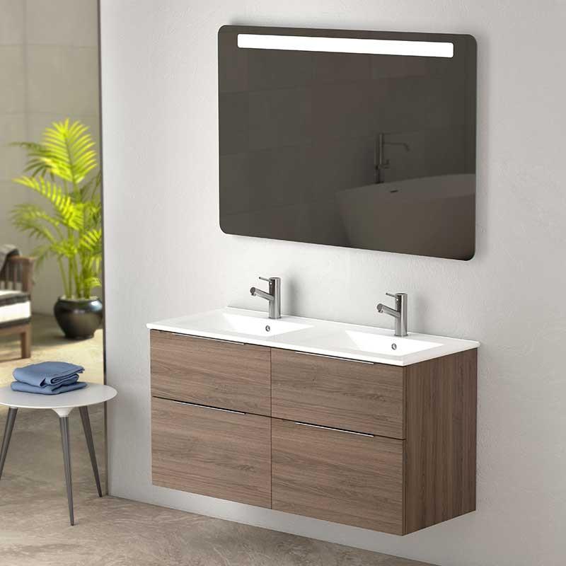 Mueble para Bao Galsaky Onix 120 cm con Lavabo Doble