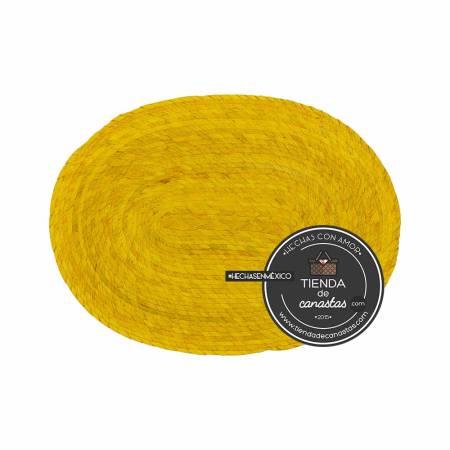 Mantel de Palma Color Amarillo arriba en Tienda de Canastas