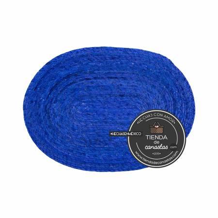 Mantel de Palma Color Azul arriba en Tienda de Canastas