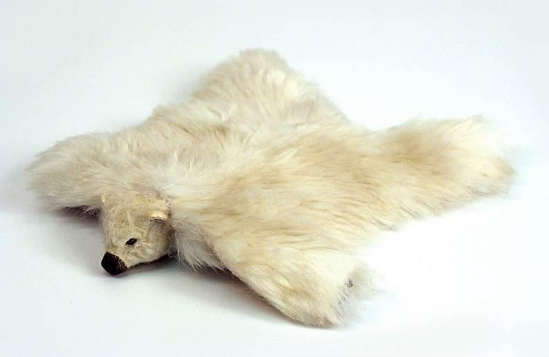 maisons de poupees al11250 tapis en peau ours