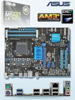 Motherboard Asus M5A97 LE, rev 20, socket AM3, soporta