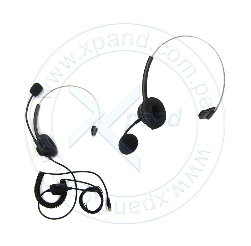 Auricular para Call Center, Hand Free, micrófono ajustable