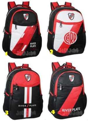 Mochila Espalda 18´ Grande Lic. Oficial River Plate Jiujim