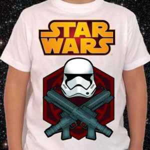 Starwars Remeras Blancas 12 Cuotas S/interes