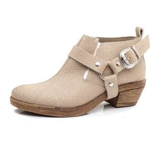 Zapatos Mujer Texanas Beige