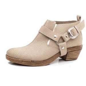 Zapatos Mujer Texanas Beige