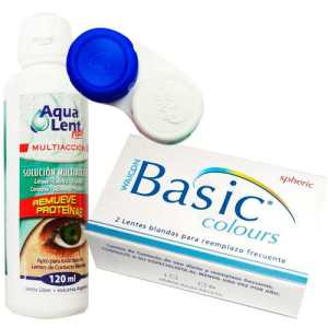 Lentes Contacto Trikolor Basic Colours +aqualent120 +estuche