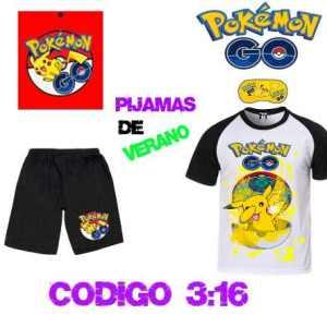 Pokemon Go Pijama Con Antifaz De Descanso Y Bolsa