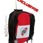 River Plate - Mochila Carrito Oficial 17 Pulgadas Caballito
