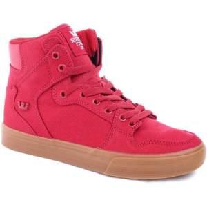 Zapatillas Botas Urbanas Supra Vaider Rojo Hombre Importadas