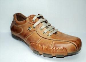 Zapatillas En Cuero Marrón Franco Pasotti