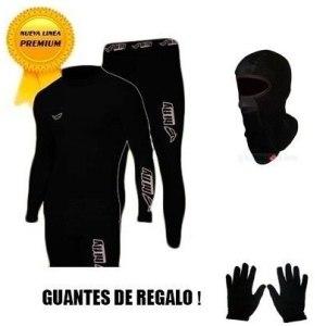 Equipo Termico Moto Remera+calza+balaclava + Guantes Regalo
