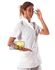 Chaqueta Mao Blanca Manga Corta | Médico