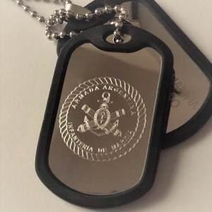Chapas Id Militar Dog Tags Grabado Gratis/incluido Pack D 2u