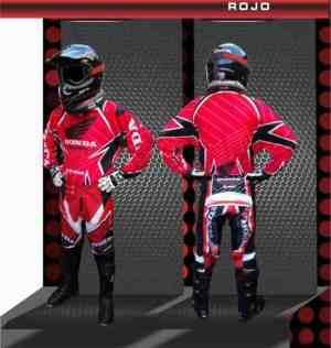 Conjunto Motocross Honda Pantalon Y Buzo 100% New 2017 Rojo