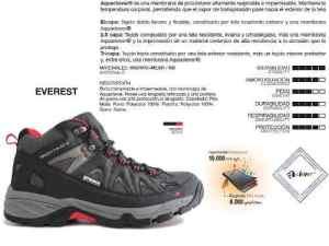 Envío Gratis Bota Trekking Montagne Everest Impermeable