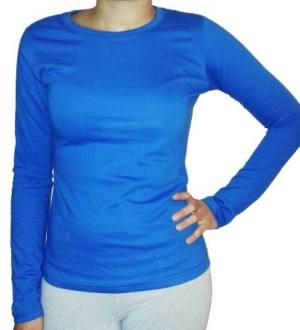 Remera Camiseta Mujer Jersey 20/1 P Mangas Largas X 6 Unid.