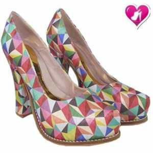 Stilletto Cuero Taco Cuadrado 15 Años Novia De Shoes Bayres