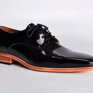 Zapatos De Charol Negro Con Base Natural Para Hombre