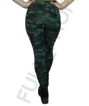 Calza Camuflada Militar Leggings Chupin Cintura Ancha Envios
