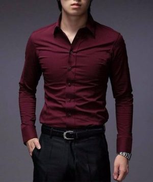 Hot Sale!! Camisas Entalladas Elastizadas Slim Fit