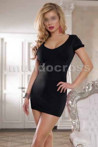 Vestido negro lycra corto