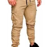 Pantalones Cargo Hombre Gabardina Bolsillos Jogger Jogging