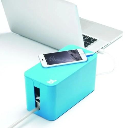 Caja recogecables Cablebox mini azul
